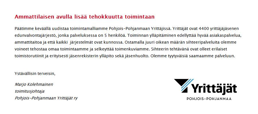 assistentin työ Pietarsaari